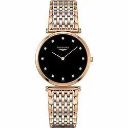 Round Analog Longines Stylish Ladies Chain Watch