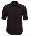 Twills Black And Red Men Black And Red Check Shirt