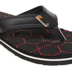 Drive Men Casual Slippers Black & Red Colors, Size: 6-10