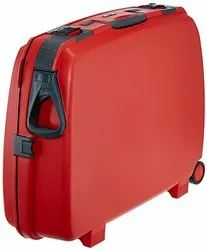 Polycarbonate Red Fancy Suitcase For Luggage