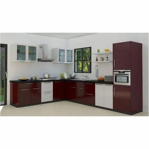 pvc l shape modular kitchen rs 1650 square feet jp