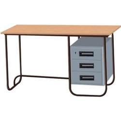 Parth Fibrotech Rectangular Office MS Table / Steel Table, 1 Year