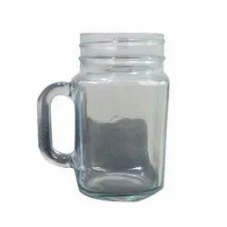 Transparent Glass Jar Cup