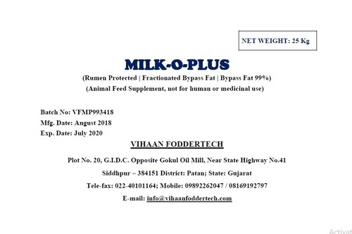 Feed additives - Bypass Fat 99% Manufacturer from Valsad