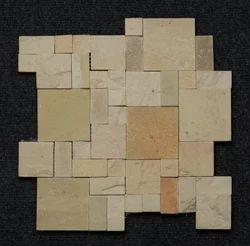 Teak Sandstone Roman Mosaic