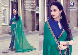 Rachna Georgette Shakira Catalog Saree Set For Woman