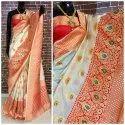 Weaving Clemira Present Heavy Banarasi Silk Saree With Blouse Piece