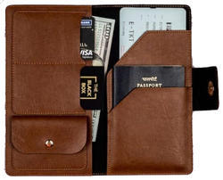 RFID Data Protection Leather Passport Holder RFID-PH01BR