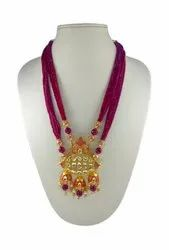 Red Kundan Polki Set
