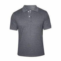 Men's Cotton Grey Plain Casual T-Shirt, Size: S to XXL