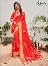 Festive Wear Sana Silk Patta Saree