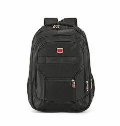 Polyester Plain School Backpack