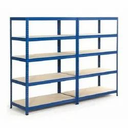 6-8 Feet Blue Heavy Duty Slotted Angle Rack, For Industries, Warehouse, 500-1000 Kg Per Layer