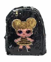 Black Sequin Kids Backpack