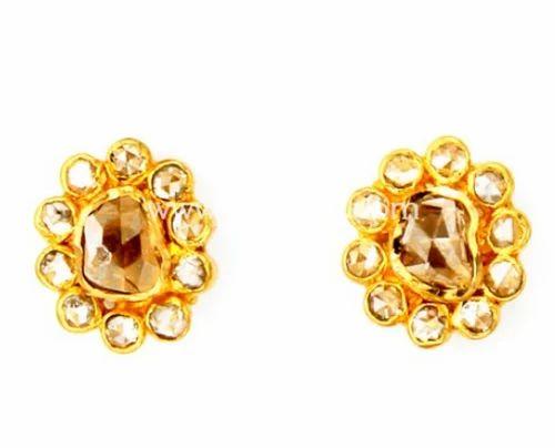 235 Der810 Uncut Diamond Earrings