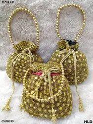 Handwork Golden Potli Bag