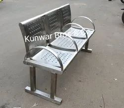 3 Seater Stainless steel Waiting chair