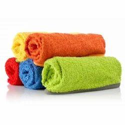 Multicolor Plain Organic Cotton Towel, Size: 8 X 8 Inches