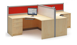 Office Computer Workstation T Type Seating 60mm Aluminium