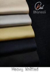 Plain Cotton SUITING KNITTED FABRIC, For Garment, GSM: 220-230