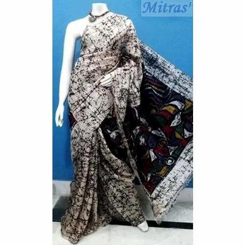 Mitras' Casual Wear Batik Printed Silk Saree, Rs 2750
