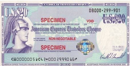 Visa Travellers Cheques Usa