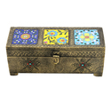 Wooden Painted Brass Coated Dry Fruit Boxes