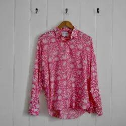 Female Block Print Cotton Shirts