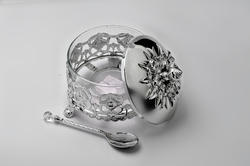 Silver Plated Sugar Pot For Housewarming & Return Gift