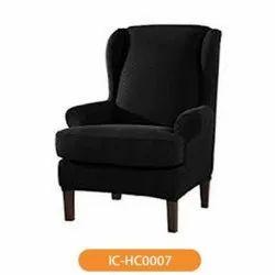 Modern IC HC0007 Hotel Black Single Seater Sofa Chair