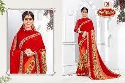 Printed Multi Silk Chiffon Saree - Masakali
