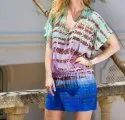 Beachwear Tie Dye Shorts Dress