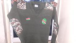Military Sweater With Camouflage Patches