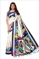Indian Silk Sarees With Blouse