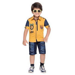 Boys Cotton And Denim Kids Baba Suits