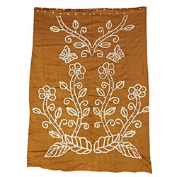 All Over Rust Fancy Design Cotton Bandhani Kurti