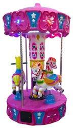 Horse Carousel Kiddie Ride - 3 Player