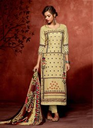 Jam Cotton Khatli Work Casual Churidar Suit