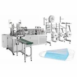 Automatic Nose Pin Attached Cotton Face Mask Making Machine