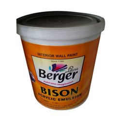 Matt Berger Bison Acrylic Emulsion Paint, for Interior Walls, Packaging Size: 1L