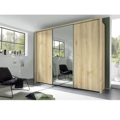 Double Door Brown Wooden Wardrobe