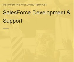 UI SalesForce Development & Support