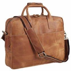 Buff Leather Laptop Bag