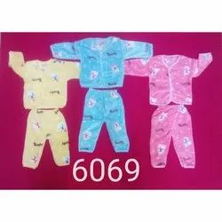 Cotton Fur Casual Wear Kids Printed Baba Suit, Age: Newly Born To 1 Years