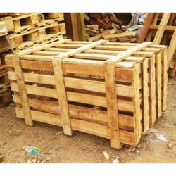 Rectangular Rubber Wood Wooden Crate Box, for Packaging, Capacity: 50 To 90 Kg