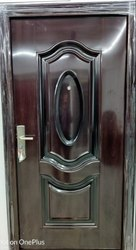 Standard Interior Brown Steel Door for Home, Thickness: 1.4mm