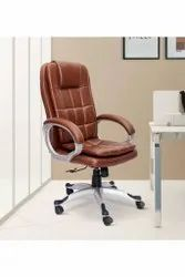 Leatherette Brown Tera Executive Chair In Tan Colour