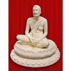 Off White Sri Ramakrishna Statue