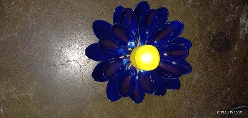 Home made Blue Candle Holders, For Decoration