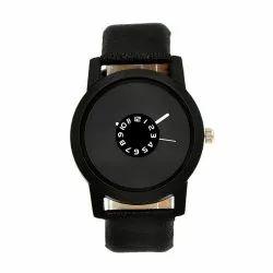 Unisex Black Dial Wrist Watch